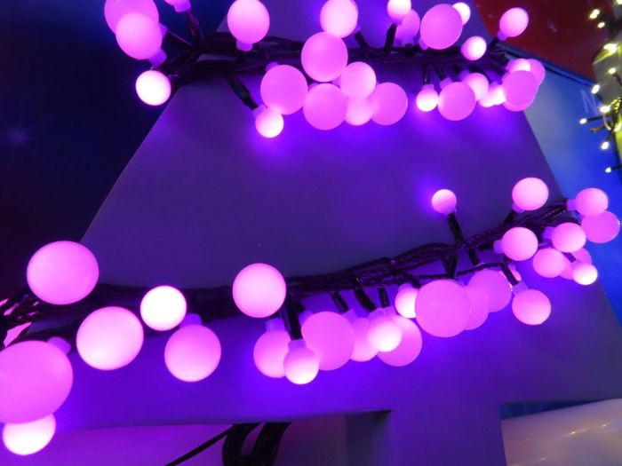 Purple Christmas lights Soft Christmas Decoration Blind Photographer Illuminated Night Decoration Lighting Equipment No People Purple Light Indoors  Glowing Electric Light Holiday Moments Capture Tomorrow