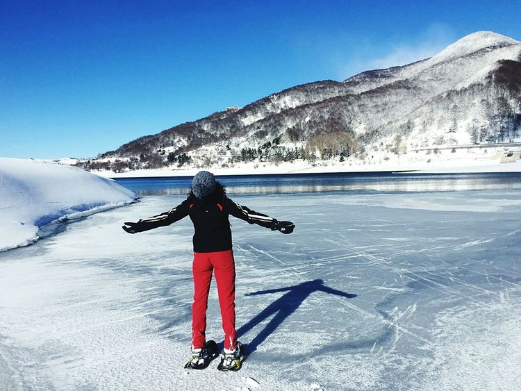 Winter Snow Cold Temperature Frozenlake Mountain Outdoors Sky Nature