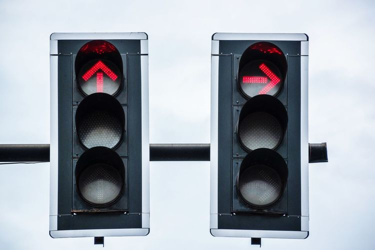 Close-up of traffic signal