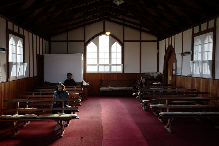 Shot in Tasmania, Australia. Architecture Day Full Length Indoors  Men One Person Pew Real People Sitting Window