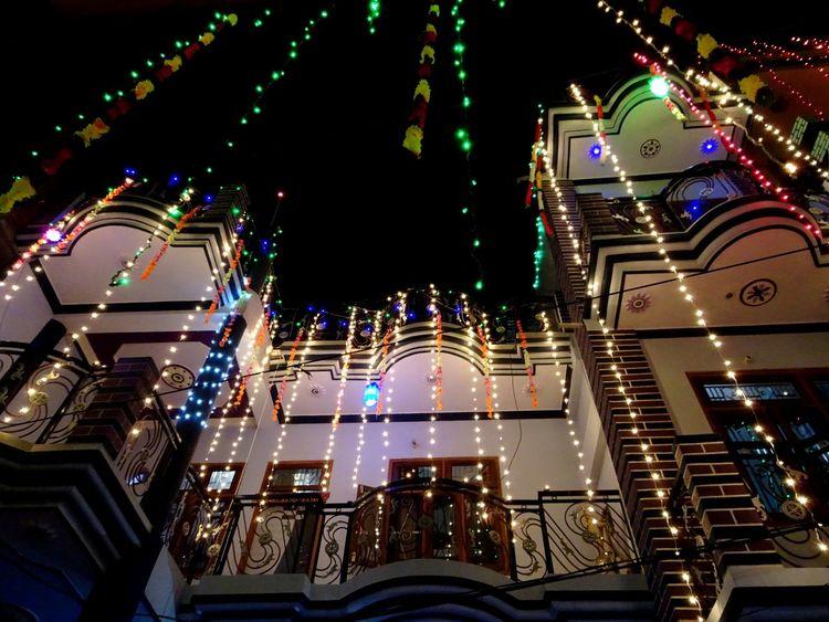 Arts Culture And Entertainment City Diwali Celebration Diwali Decoration Diwali Lights Illuminated My Home Night No People Outdoors Beautifully Organized Embrace Urban Life My Year My View EyeEmNewHere The Architect - 2017 EyeEm Awards
