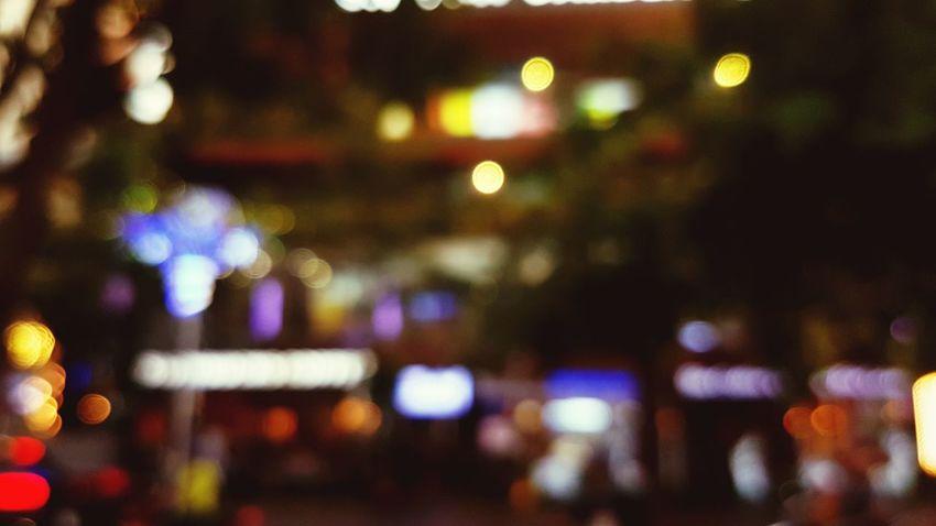 Night in city. Hochiminhcity Samsung Galaxy S7 Edge NguyenHue Street Nguyenhuewalkingstreet Bokeh Bokeh Photography Bokeh Lights Illuminated Night Defocused No People Indoors  Nightlife City