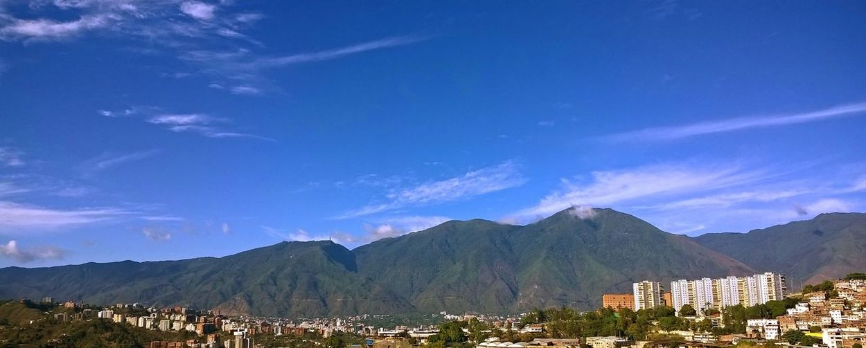 My 01/01/2016 Mountain El Avila  Amazing View Perfect Day Sky City View  Venezuela Venezuela_captures Naturephotography Nature Firts Day Of 2016 New Year Mountains And Sky