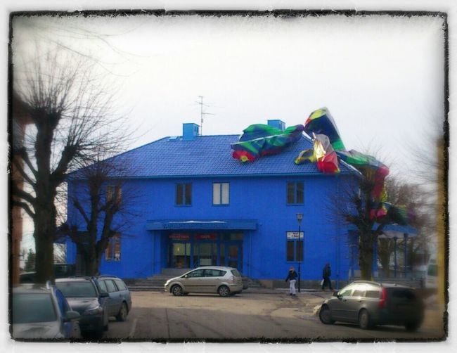 The Building Of Touristinformation In A Small Village Named Vara