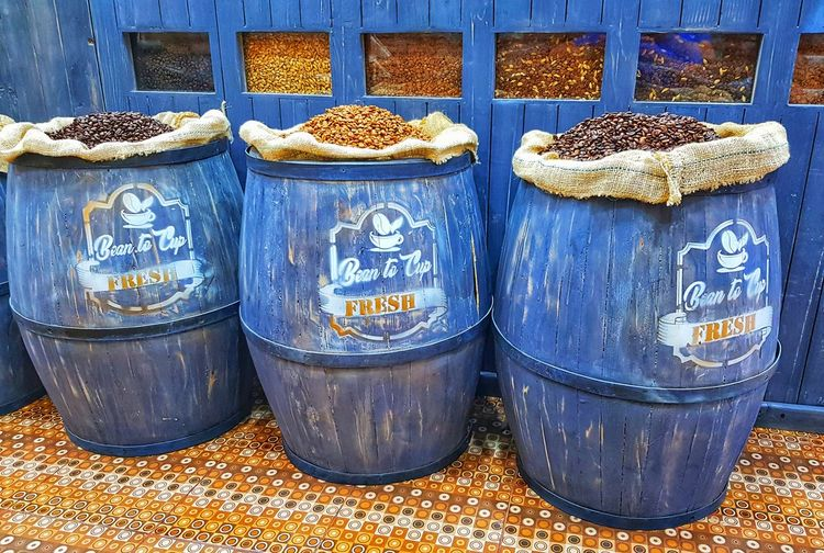 Coffee beans Coffe Coffeshop Coffelover Blue Text Close-up