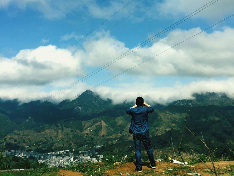 山頂 家乡 Outdoors Nature MountainOne Person