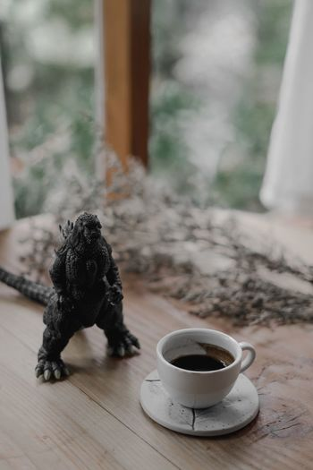 espresso coffee Cafe Coffee No People Focus On Foreground Window Animal Themes Animal Cup Food And Drink Toy