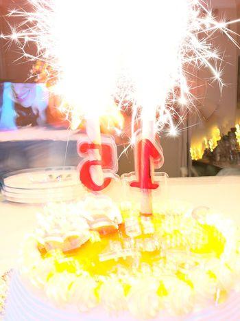 15years Fifteen Lights 9jan17 9january Candles Birthday Cake