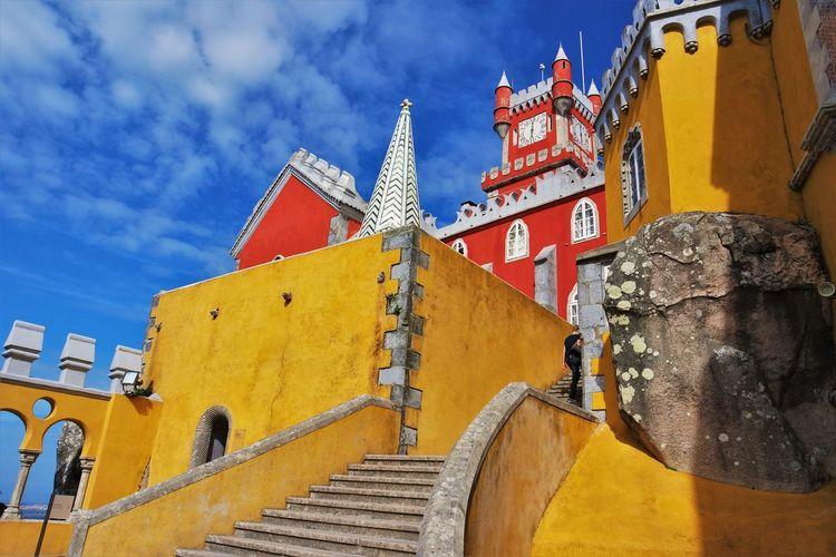 Ancient Architecture Blue Built Structure Castle Cloud - Sky Day Palace Portugal Primair Colours Sintra Travel Yellow