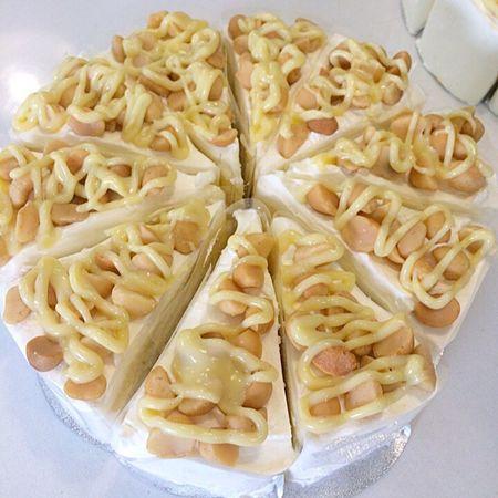 Macadamia Cake Dessert White Chocolate Homemade