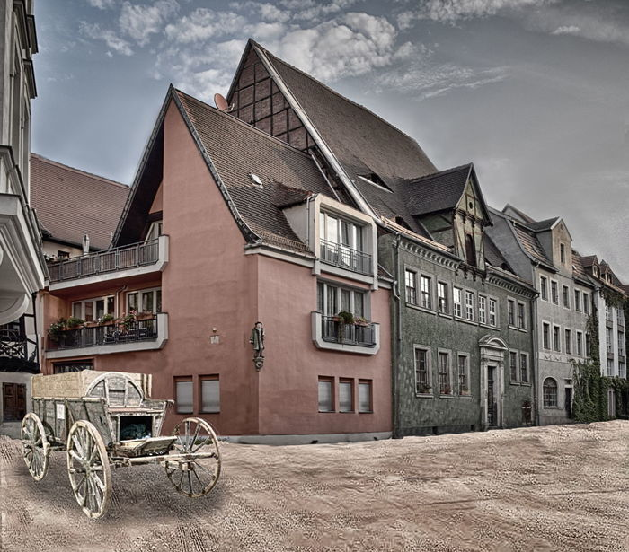 Alter Markt Hallische Hanse Medieval Collage Medieval Town