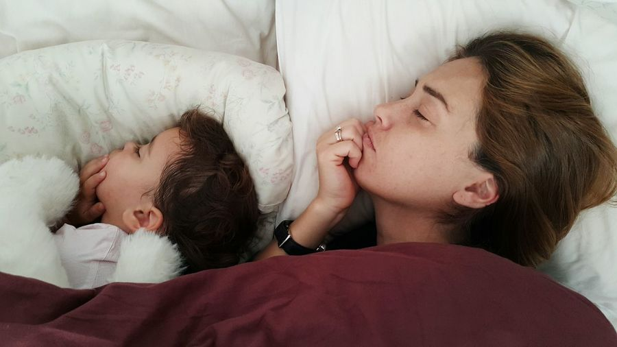 Mother & Daughter Sleeping Together Together Love Family Relaxation Time Precious Moments Motherslove Conecting People Daddy Capture The Moment Motherhood Momemts