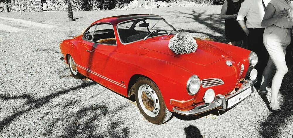 Colour Of Life Summer Wedding Weddingcar Welcome To My World Grey Red Littlethingsinlife VW Carman