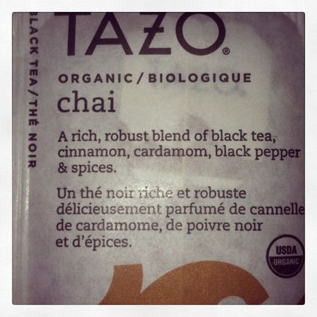 Second cup of tea for the night? Tea Tazo Chai Yum