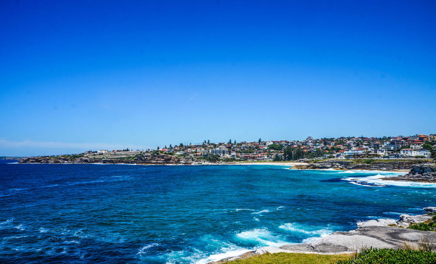18-55mm Architecture Beach Beauty In Nature Blue Bondi Bondi Beach Building Exterior City Cityscape Clear Sky Day Horizon Over Water Nature No People Outdoors Scenics Sea Sky Sony Sony A3000 Tranquility Travel Destinations Water Waterfront