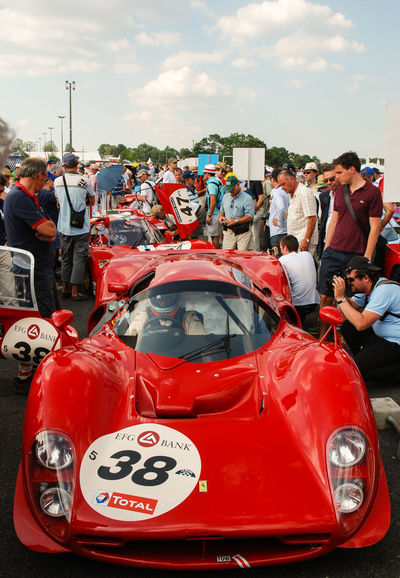 Ready to race Car Cars Classic Car Ferrari Ferrari P4 Le Mans 24 Le Mans Classic Le Mans Legends Pilot Racing Red The Drive Vintage Cars