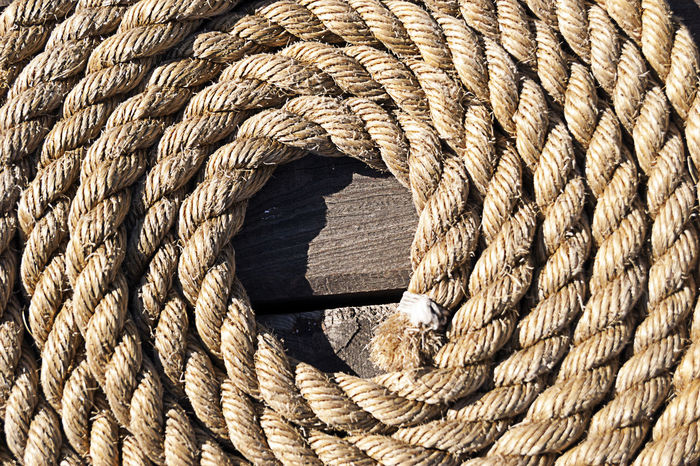 Architectural Feature Circle Close-up Concentric Day Full Frame Outdoors Pattern Repetition Rope Rope Art Textured  Wood - Material Wooden