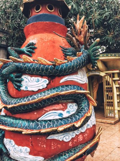 Art And Craft Statue Ornate Sculpture Dragon Day No People Spirituality Outdoors Chinese Dragon Close-up IPhoneography