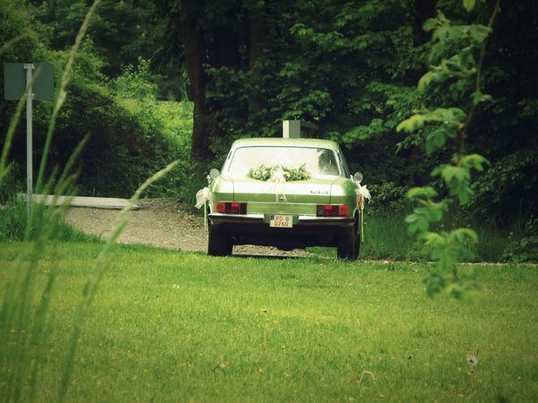 Sunny day in Simsee - Germany . Traveling Quality Time Relaxing Retro Nature Car Vintage Cars Vintage Nsu Roadtrip