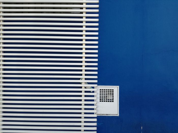 Railing Against Blue Wall