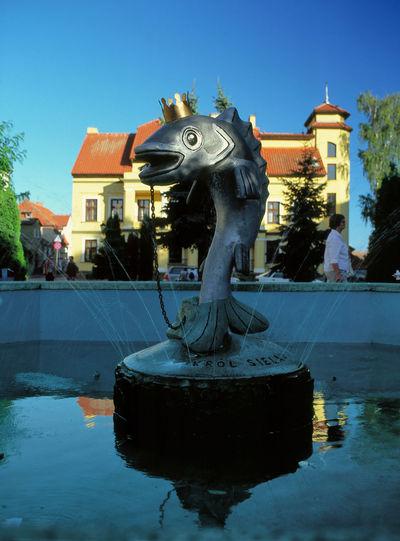 Mikołajki, Mazury, Poland Day Fish Fountain Mazuren Mazuria Mazuria Lake District Mazury Mikolajki Mikołajki Mikołajki Poland Sculpture Statue Water