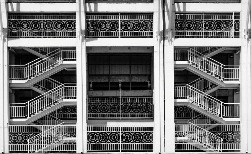 Low full frame shot stairs of building