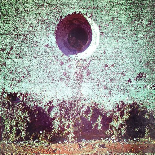 Nature Architecture Industrial Architecture Close-up Moss Dry Moss Circle Concrete Industrial Decay Industrial Beauty
