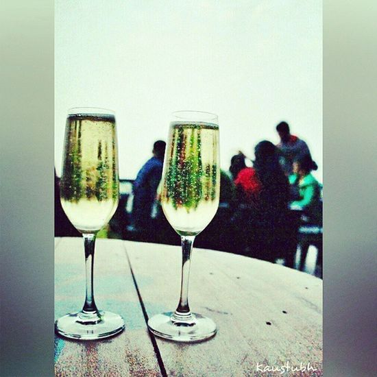 Sparkling wine with classic company. Best combo! Sula Wineyard Sparkling Wine Picoftheday