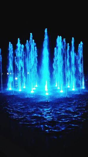 Illuminated Blue Night Nature Water No People Arts Culture And Entertainment Glowing Architecture Luminosity Light Small Town Singing Fountains Walking Around Summer ☀ HUAWEI Photo Award: After Dark