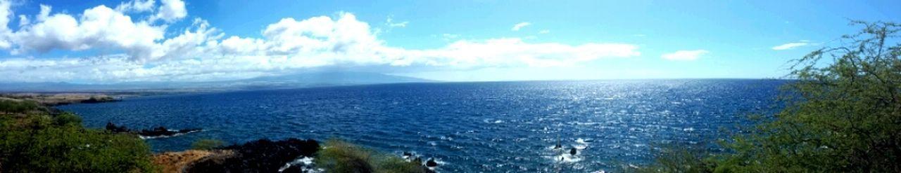 Kawaihae Panoramic Horizon Over Water Beauty In Nature Blue Water Nature
