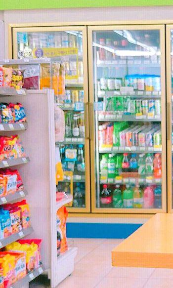 편의점 Multi Colored Food No People Dailyphoto Daily Everyday Life Everyday 알록달록 상큼하다. 여름의 끝자락에 편의점휴가