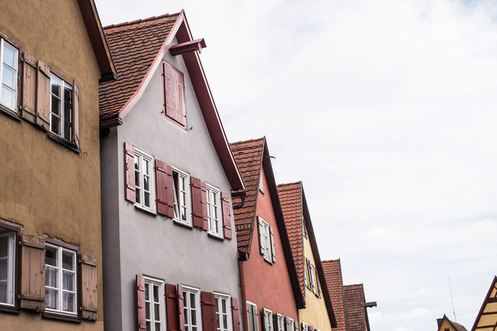 Apartment Architecture Building Building Exterior Built Structure City Cloud Cloud - Sky Day Dinkelsbuhl High Section Low Angle View No People Outdoors Residential Building Residential District Residential Structure Sky