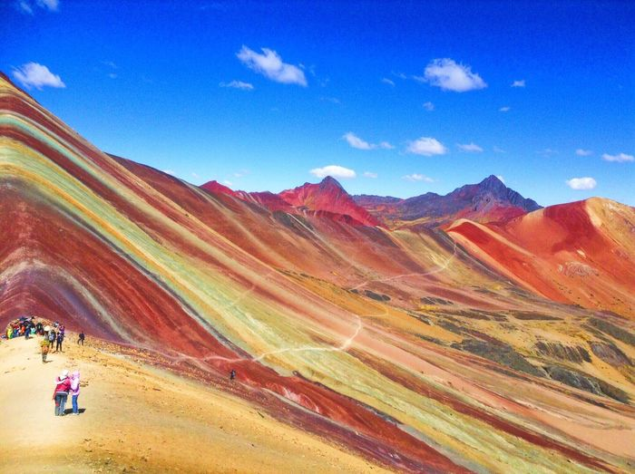 Beautiful photograph from the Rainbow Mountains in Cusco Peru First Eyeem Photo