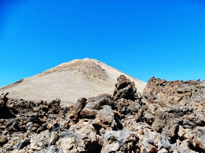 Nature Clear Sky Desert Outdoors Day No People Blue Travel Destinations Landscape Sky Mountain Sand Dune Ancient Civilization Tenerife El Teide National Parc Volcanic Landscape El Teide Volcano Clear Sky Arid Climate Mountain Range El Teide, Tenerife  Beauty In Nature The Great Outdoors - 2017 EyeEm Awards