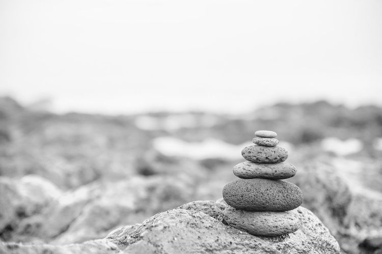 Balance Bnw_friday_eyeemchallenge Bnw_minimalist Close-up Focus On Foreground Outdoors Pebble Rock - Object Stack Stone - Object Tranquil Scene Tranquility Zen