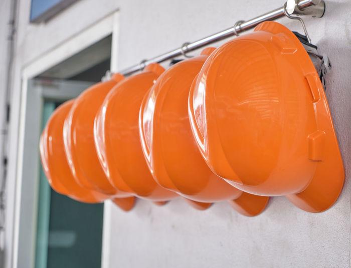 Close-up of orange umbrella