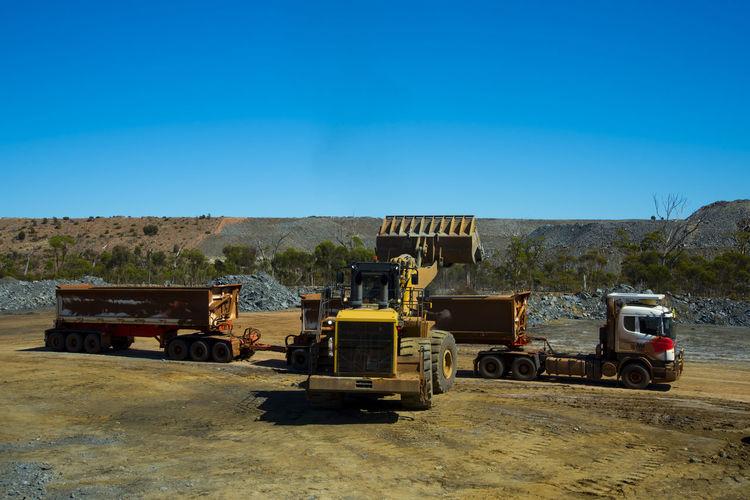 Mining Ore Loads Mining Road Train Loader Mine Transportation