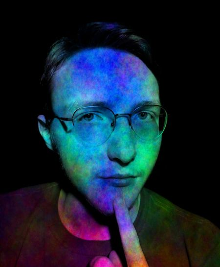 Thoughts and ideas are the vivid colors expressed and mixed by a creative imagination. This is me. Light Self Portrait Vision The Portraitist - 2018 EyeEm Awards Black Background Portrait Multi Colored Eyeglasses  Looking At Camera