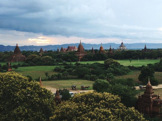 The Color Of School People And Places Scenics Vacations Tourism Rear View My Favorite Place Sunset Unique Culture Of Myanmar Burma Pagode Pagodas Pagoda Building Pagoda Myanmar Pagoda Roof