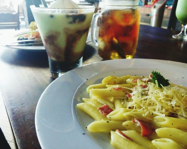 The Foodie - 2015 EyeEm Awards Pasta Lunch Time! Avocado Float Lycheeicetea Delicious Food