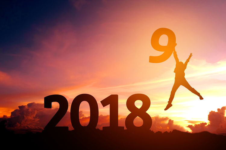 2019 Celebration Dream Happiness Holiday Jump Newyear Celebration Beauty In Nature Celebration Event Nature Silhouette Sky