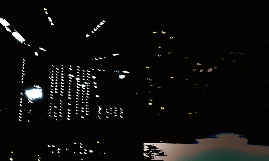 No People Illuminated Black Background Night Outdoors Monochromatic Monochrome Photography No People, Monochrome Black And White Taking Photos TakeoverContrast Building Lights Built Structure Best EyeEm Shot Illumination Ilumination