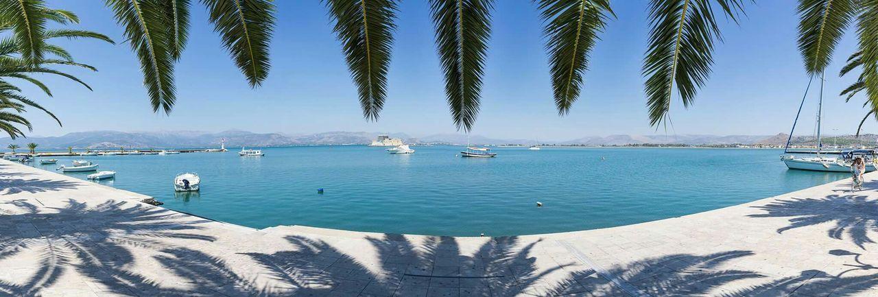 Nafplio Nafplion Panorama Panorama Foto Greece Peloponesse Peloponese Water Port Harbor