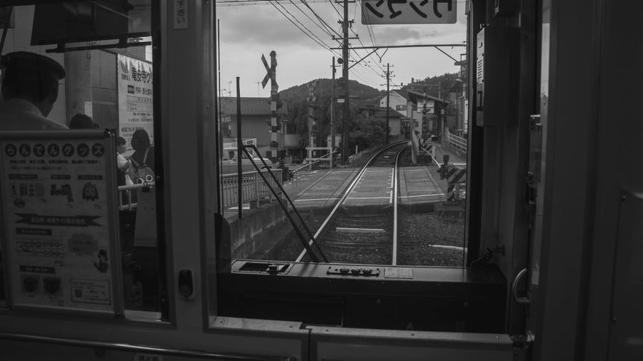 Kyoto Train Traveling Home For The Holidays Transportation Train Traveling Mode Of Transport Monochrome Streetphotography Public Transportation Rail Transportation Japan Kyoto Japan Photography Miles Away The Street Photographer