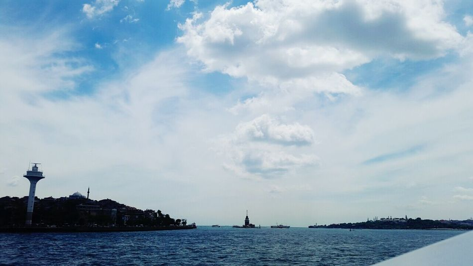 Vapur Taking Photos Enjoying Life Blue Sky Clouds Sea Maidenstower Kiz Kulesi