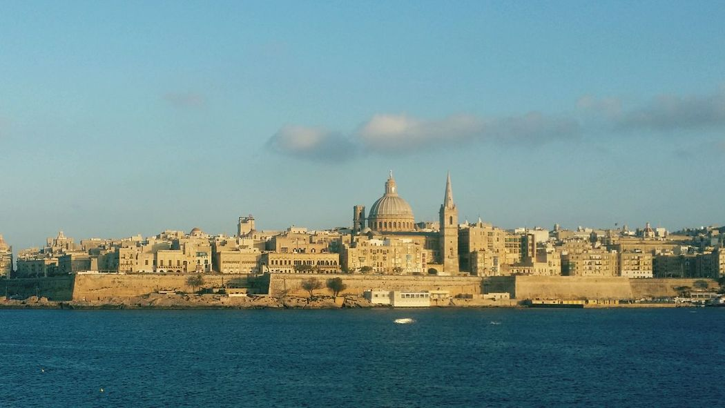 Valletta, Malta City Of Culture 2018 Valetta,Malta Old City Centuries Old Culture Holiday Mediteranian Island City Defences Valetta City From Sliema View Across Bay Cityscape City Politics And Government Urban Skyline Water Sky Architecture Building Exterior Built Structure