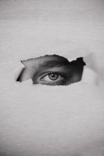 Close-up shot of human eye