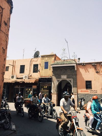 Marrakech Morocco City Cityscapes Bike Bikes Traveling Travel People
