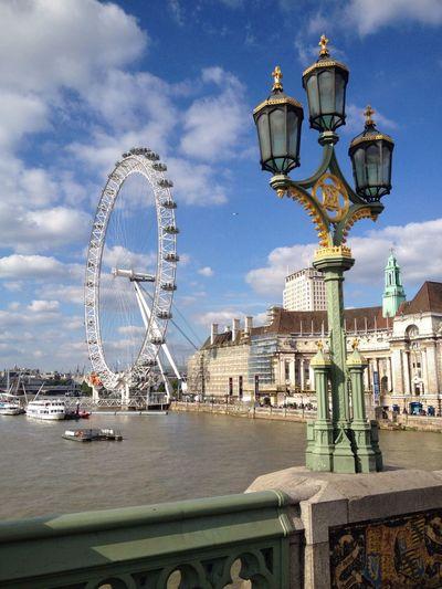 Learn & Shoot: Layering Lamppost London Eye Bridge The Thames Summer View EyeEm LOST IN London