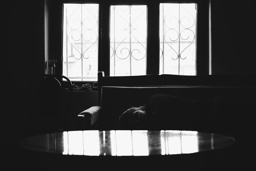 Sleeping Indoors  Window One Person One Man Only Only Men Day Real People Adults Only Domestic Room Human Body Part Low Section People Adult Close-up Men Architecture